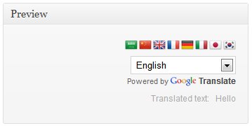 Google Language Translator - Documentation